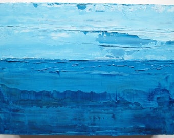 Abstract ocean painting, seascape, blue abstract painting, blue ocean painting, oil painting