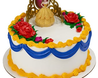 Belle Beauty and The Beast 2 Piece Cake Kit Toppers Decorations Party Favors