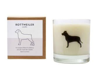 Rottweiler Soy Candle Scented Soy Candle Rottweiler Gift Dog Lover Hostess Gift Pet Memorial The Original Scripted Fragrance Candle