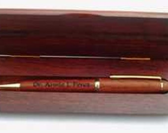 Personalized Wood Pen Set - Engraved wood pen presentation set, retirement gift, groomsman gift, personalized Father's Day gift