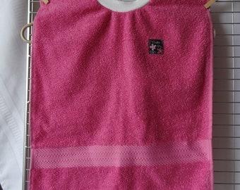 Baby Toddler Pullover Bib - 100% Cotton, Pink - Cutie Pie