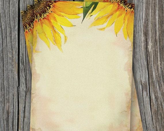 items similar to blank sunflower wedding paper