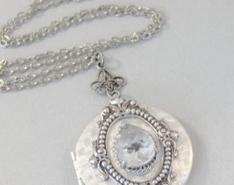 Mystic Diamond,Vintage Diamond,Vintage STone,Vintage Crystal,Vintage Necklace,Vintage Diamond Necklace,Vintage Silver Necklace