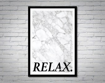 Relax Wall Art Print