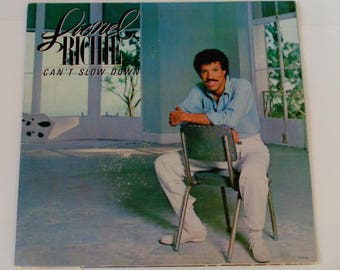 "Lionel Richie - Can't Slow Down - ""All Night Long"" - ""Stuck On You"" - Dance Pop - Motown 1983 - Vintage Gatefold Vinyl LP Record Album"