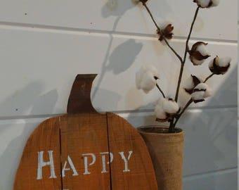 Wooden fall pumpkin