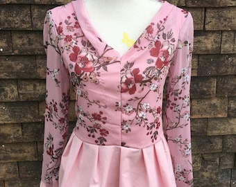 Tunic pink flowers