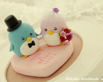 penguin cake topper --Special Edition (K202),penguin wedding cake topper