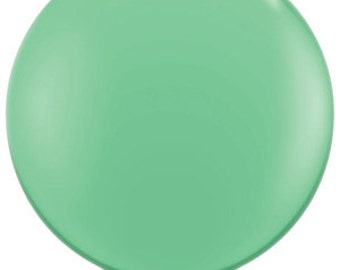 "Giant 36"" Inch Fashion WinterGreen Round Large Balloon 36 inch Mint Green Balloon Wedding Party Decor prop ""Same Day Shipping"""