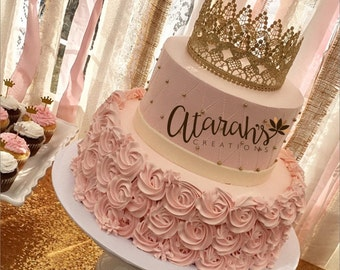 Crown cake topper etsy gold crown cake topper crown cake topper cake topper photo prop cake smash junglespirit Images