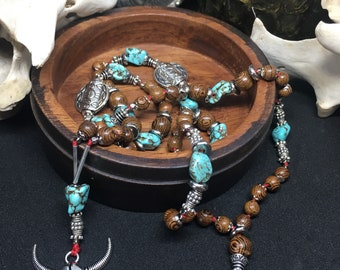 Cow girl beaded necklace