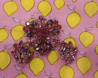 Vintage Signed Regency Pink Parure