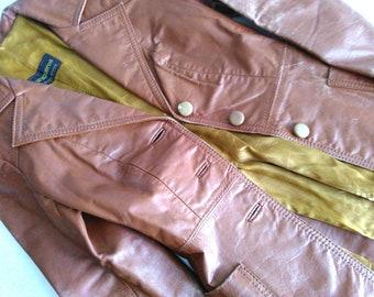 1970 Argentine Women's Leather Brown Jacket