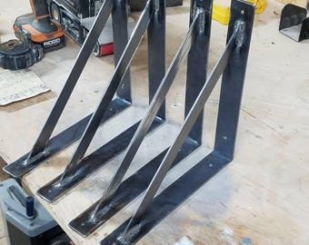Custom steel shelf brackets
