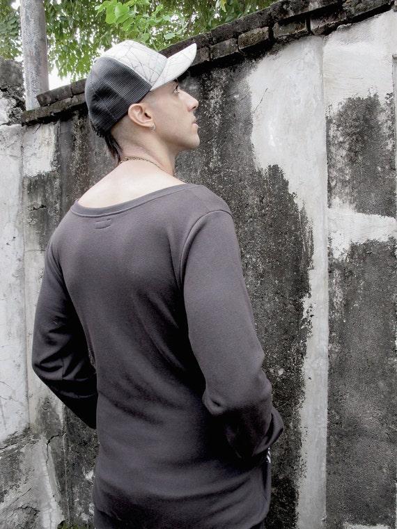 Man's Man Long Top Top Sleeve Jumper Men's Sleeve Man's Loose with For Sweatshirt Pockets Man's Shirt Design Top Long Men Black Top 6UUgY4