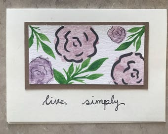 Live Simply // Greeting card