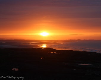 Sunset Over Budle Bay, Northumberland Photograph Print 12 x 8 inch or 16 x 12 inch