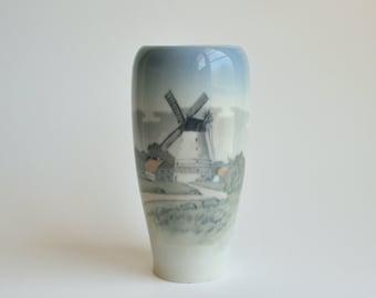 Royal Copenhagen vase - Dybbol Mill - made in Denmark