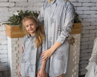 Long Shirt Dresses Mommy Baby Matching - Perfect Baby shower gift, Matching Outfit, Mom and Me, Matching shirts, Mini Me