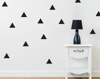 """Triangle Wall Decal / Trianglest Decal / Gold Triangle Wall Decal / 4"""" Triangle sticker / Home decoration / Living room Decal"""