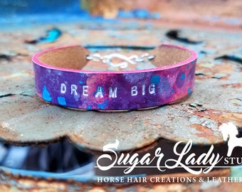 Cosmick Dyed Inspirational Bracelet - Watercolor - Water Color - Artist Boho Inspired