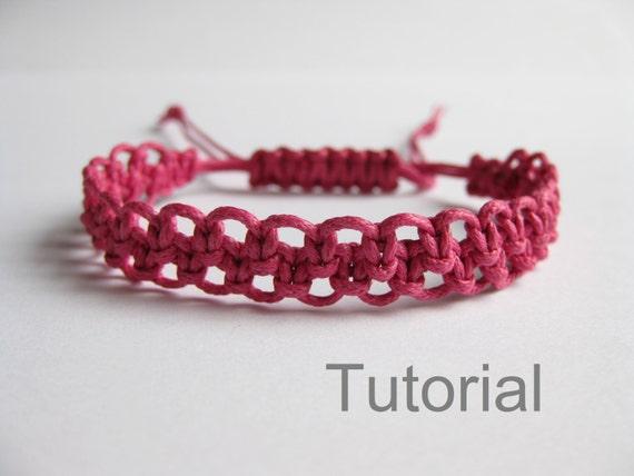 bracelet macrame tuto