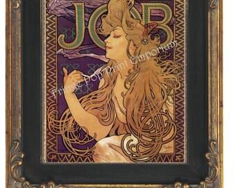 Art Nouveau Art Deco Art Print 8 x 10 - Goddess of Glamour - Brunette Beauty