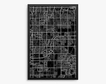 Gilbert City Street Map, Gilbert Arizona USA, Modern Art Print, Gilbert Office Decor Idea, Gilbert Home Decor, Gilbert Map, Gilbert Print