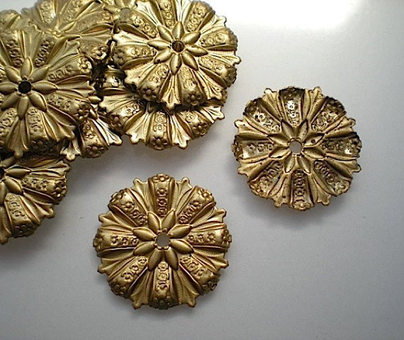 12 Brass Mirror Rosettes No 12