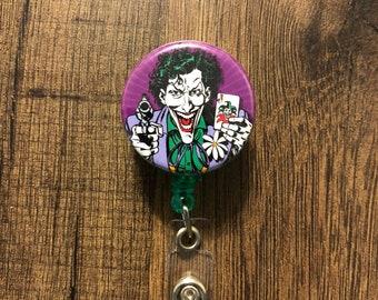 The Joker Retractable Badge Holder