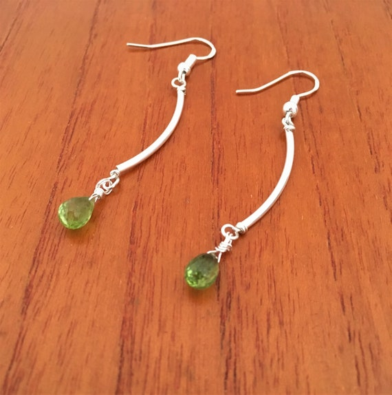 S - 658 Peridot earrings