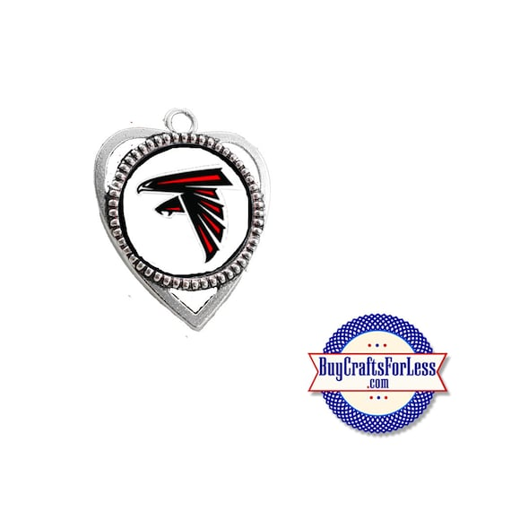 ATLANTA Football HEART PENDaNT, CHooSE Design! +FREE SHiPPiNG & Discounts*