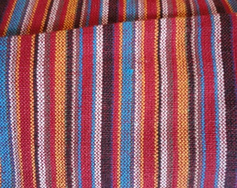 handmade cotton canvas striped.