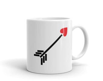 Red Heart Arrow Coffee Mug