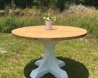 Round Trestle Dining Table