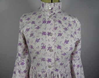 RARE LAURA ASHLEY Made in Wales 1974 Vintage Prairie Dress-Uk 8-10