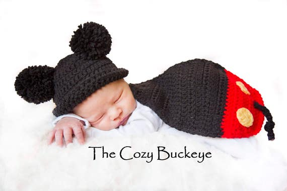 Instant Download Crochet Pattern - Mickey Mouse Hat & Cape Set ...