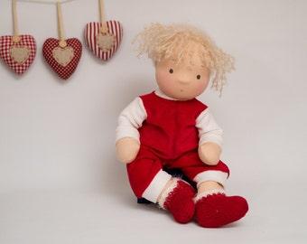 "Waldorf doll, Steiner doll. Handmade doll. Artist doll. 40 cm - 16"""
