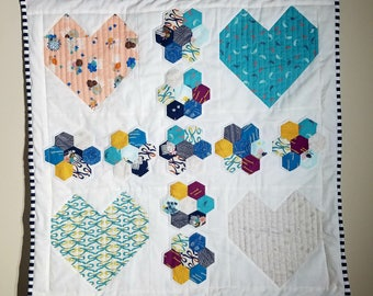 Hearts and Flowers Mini Quilt