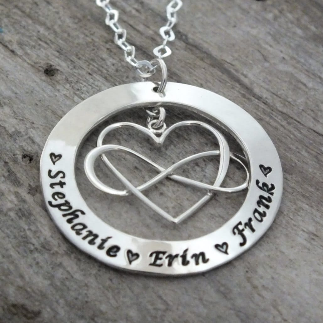 infinity necklace with names infinity necklace sterling. Black Bedroom Furniture Sets. Home Design Ideas