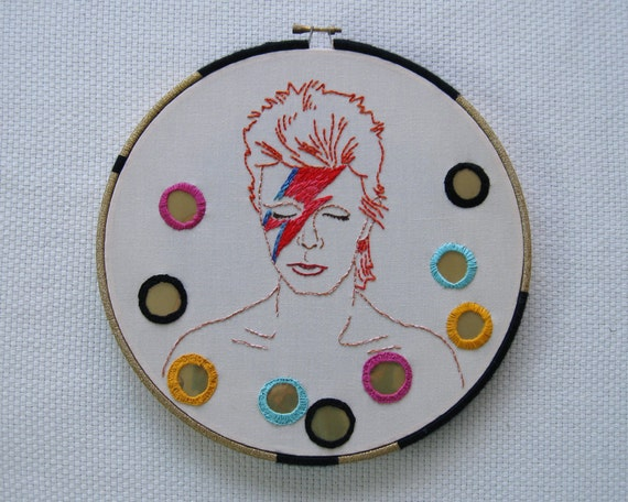 Embroidery Pattern David Bowie