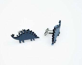 Stegosaurus Cufflinks, Dinosaur Cufflinks, Wedding Gift, For Him, Formal Wear, Black Tie, Groom, Alternative Wedding, Dinosaur Wedding