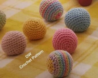 Crochet Toy Balls PDF Crochet Pattern Instant Download