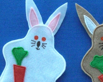 Bunny Rabbit Puppet Party Favor, Handpuppet, Party Toy