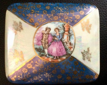 Painted porcelain jewelry box