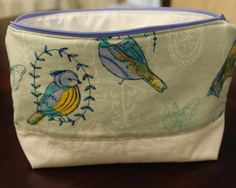 Summer Bird Print Project Bag