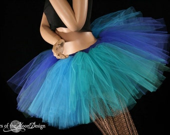 Mermaid tutu skirt adult Extra puffy teal turquoise blue green Adult costume carnival dance --  You Choose Size