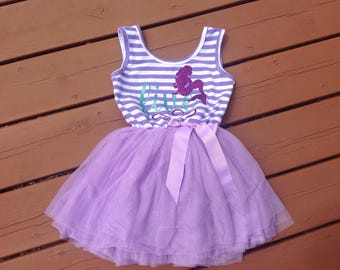 Purple Fifth Birthday Mermaid Dress