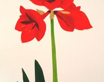 Christmas lily card