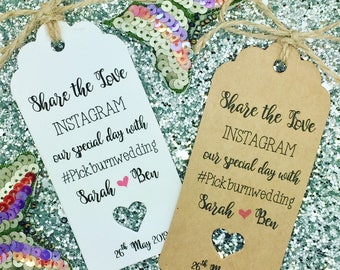 INSTAGRAM Photo Booth Gift Tag, Wedding Favour, Guest Label, Personalised
